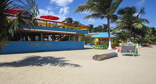 A Sidewalk Stroll in Beach Town Belize