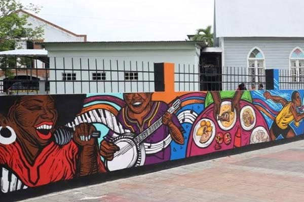 Panama City Neighborhood Mural