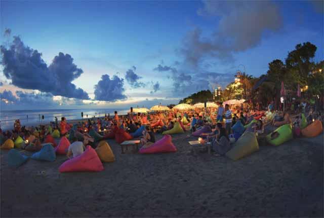 Seminyak, Bali beach chilling
