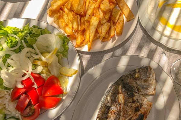 Albania Ali Kali fish lunch