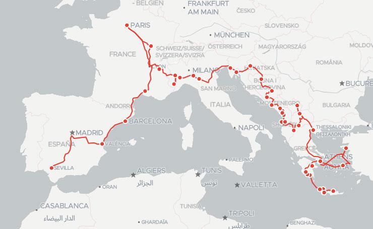 Mediterranean Food Tour Map