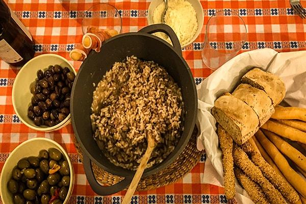 Turin sausage risotto