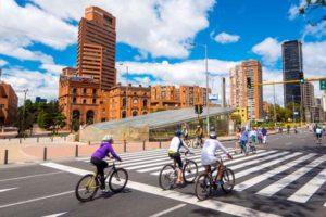 Cycling in Bogota