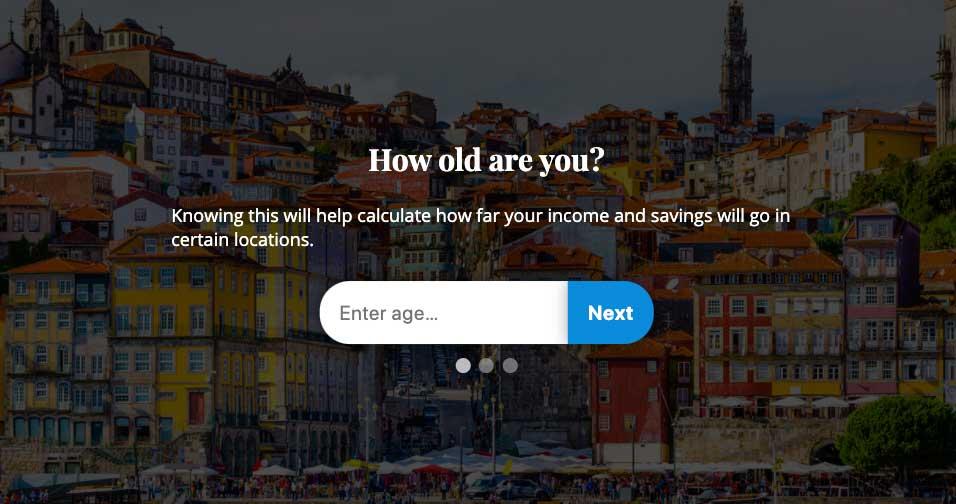 Your Overseas Retirement Calculator
