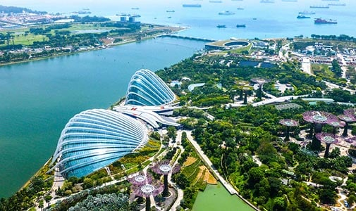 A City from Scratch Off the Coast of Singapore