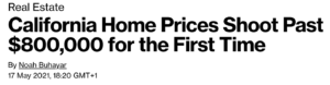yodh California house pirce headline