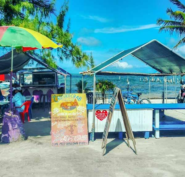 Beachfront at Caye Caulker