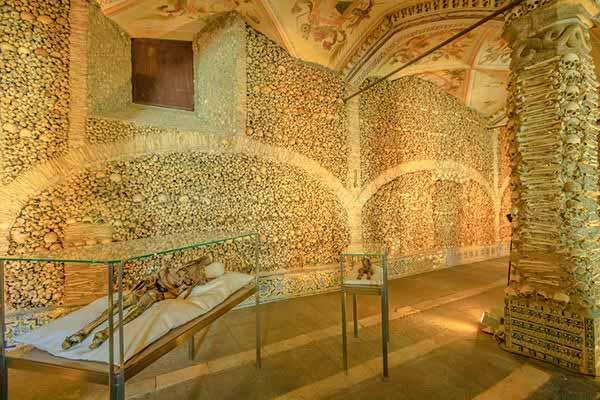 The Chapel of the Bones in Evora
