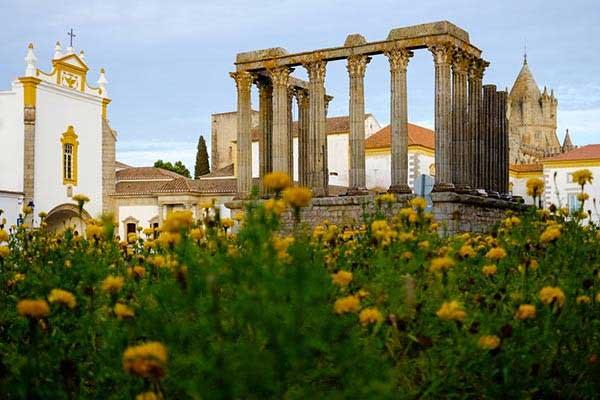 The Roman Temple in Evora