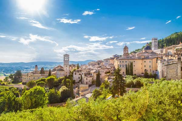 The medieval town of Assisi